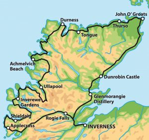 5 Or 7 Day The North Coast 500 Map