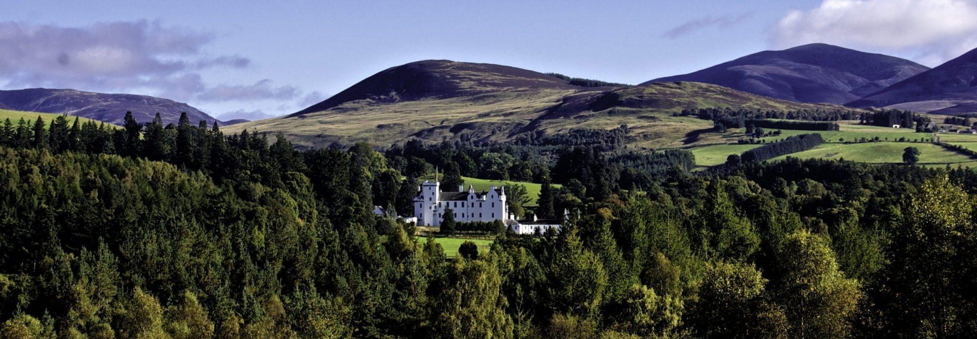 Scenic Blair Castle Panorama Scaled Aspect Ratio X